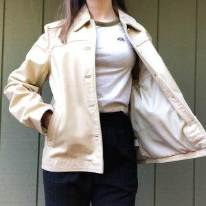Vintage J Crew 100% Leather Jacket